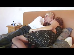 Fishnet Granny Fucks Grandad