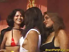 Brazil party orgy hard fucking and sucking big cocks