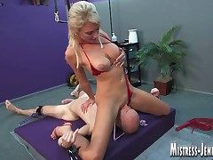 Mistress Alexis uses slave sean for doll-sized mercy bondage mad about