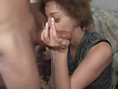 Granny's So Horny He Cums In Her Mouth