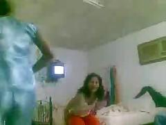 Arab crazy girl playing