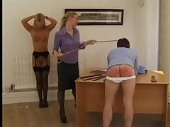 Femdom Office Spanking