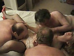 Sexy british milf enjoying a gangbang - C3P0