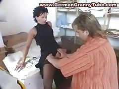 German Mature BOSS Fucked in the office
