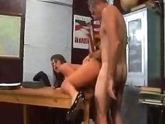 Olld teacher fucks nice big tit student