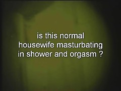 Mature Wife masturbate in Shower