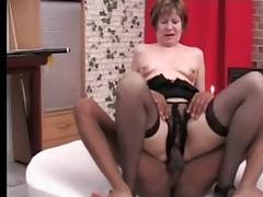 Amazing Nipples Saggy Breasted Mature Sucks and Fucks