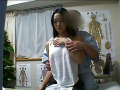 Japanese girl massaged and fucked lustily