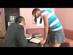 Partisan with pigtails fucks teacher