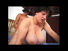 Fat mature Russian fucked hard in her cunt