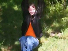 Forest Toying Pussy Of Hot Babysitter