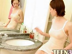 Strip Russian Girl In The Bathroom