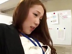Hot Office Lady Getting Her Toes Sucked Giving Blowjob On..