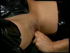 Black Leather Girl Gets Fucked