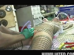 Teen Caught In A Fishnet