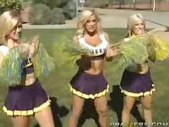 Hot Busty Cheerleader!