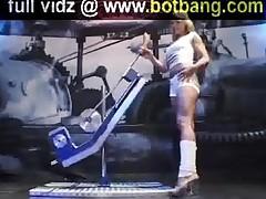Naughty Babe Takes Fucking Machine