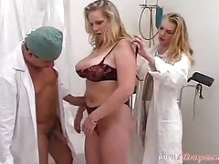 Busty Blonde Fisted At Gyno Table