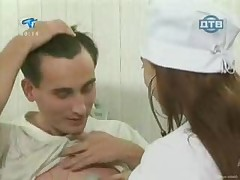 Russian Young Nurse Shows Her Gorgeous Tits To Her Patients