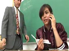 Naughty Brunette Student Punished By Her Teacher