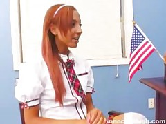 Cute Veronica Vega Blows Her Teacher To Get Out Of Detention