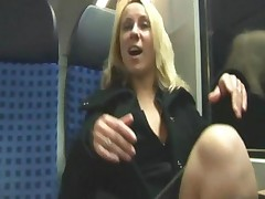 Homemade Public Fuck On Train