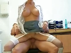 Office porn that ends with creampie
