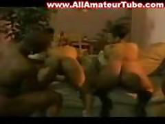 2 black fat asses