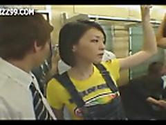 Mosaic- girl in train gives geek handjob