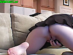 Fingers in amateur pussy