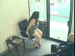 Spy Video - A couple is fucking in the waiting roo