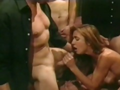 Inredible Leena La Bianca in a gang bang scene