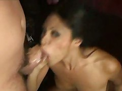 Thick cock up her pussy cums on her face