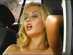 Hot blonde in car 1