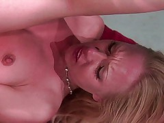 Blonde fucked while others are watching