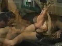 Dirty cock slurpin' anal slut
