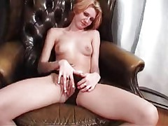 Man masturbating in front of black dressed woman