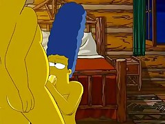 Homer loves pounding Marges tight pink