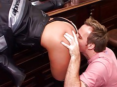 Hot babes getting fucked in a bar