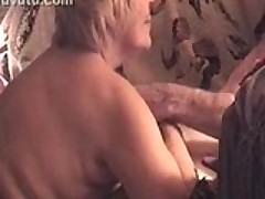 Chubby Blonde Blows Her Hubby