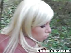 Hot outdoor fuck in the woods