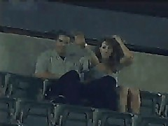 Amateurs having sex in stadium