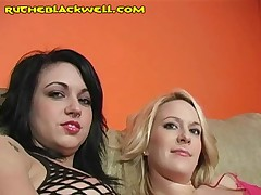 Ruth Blackwell - Two Girls Take Oral Turns On A Black Meat