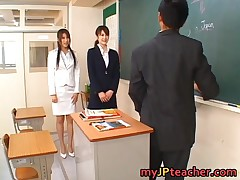 Junna Aoki - Junna Aoki And Erika Kirihara Hot Asian Teachers 1 By MyJPteacher