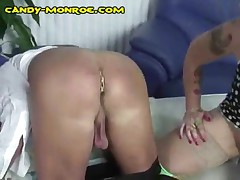Candy Monroe - Candy Punishes Her White Cuck By Ass Waxing