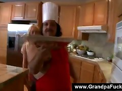 Ron Jeremy - Blonde Sluty Teen Sexing Bad Ass Grandpa, After Some Baking In The Kitchen