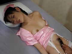 Sweet Asian Maiden Gets Hairy Beaver Fingered In Bed