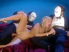 Sophie Evans vs mask men