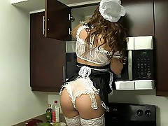 Petite maid cleans everything