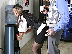 I fucked my coworker hard in the men's bathroom